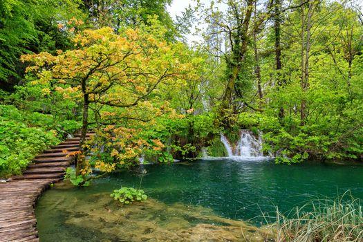 Красивые обои плитвицкие озера, национальный парк плитвицкие озера на рабочий стол
