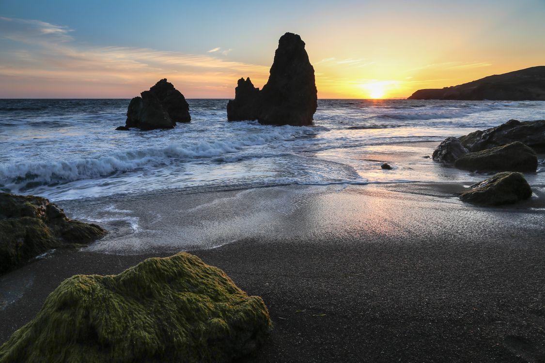 Фото бесплатно San Francisco, California, закат - на рабочий стол
