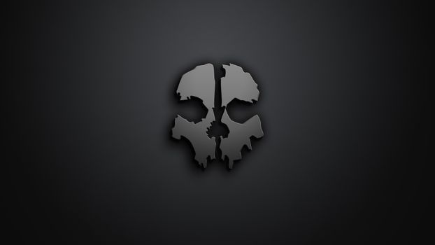 Photo free skull, dark background, digital art