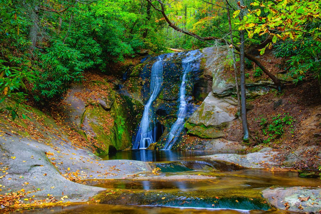 Фото бесплатно Widow s Creek Falls, Stone Mountain State Park, North Carolina - на рабочий стол
