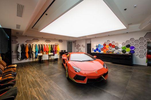 Photo free Lamborghini Aventador, apartment, floor