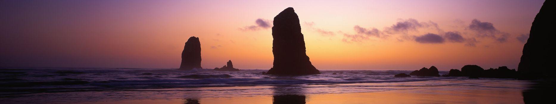 Фото бесплатно пляж, coucher, монитор, мульти, Роше, рок, экране, солнце, закат, тройные