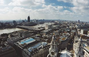 Photo free cityscape, river, buildings