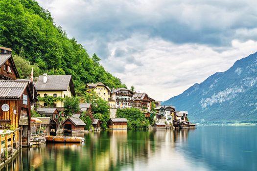 Фото бесплатно горы, дома, пейзаж