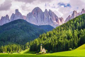 Бесплатные фото Пик Доломиты,Св Маддалена,Италия,пейзаж,Доломиты,Альпы,горы
