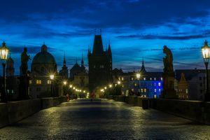 Фото бесплатно ночь, Чехия, ночной город