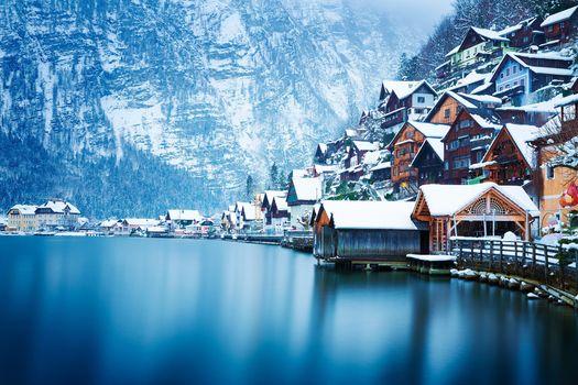Photo free houses, snow, Austria