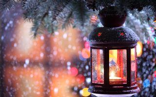 Фото бесплатно огни, рождественские, праздничные