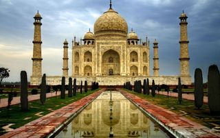 Заставки сад, Индии, Махал, памятник, Тадж