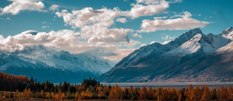 Фото бесплатно горы, простор, облака
