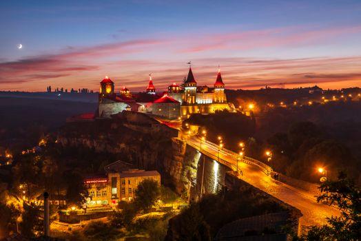 Фото бесплатно Ночной замок, Город Каменец-Подольский, Хмельницкая область