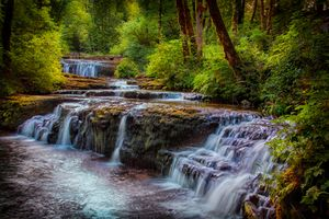 Фото бесплатно водопад, ручей, пруд