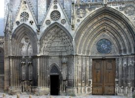 Photo free bayeux cathedral, france, gate