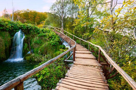 Фото бесплатно Плитвицкие озера, Хорватия, водопад
