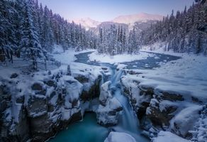 Фото бесплатно Sunwapta Falls, Alberta, Canada