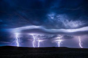Фото бесплатно небо, вспышка, шторм
