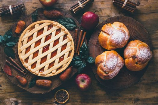 Фото бесплатно выпечка, пирог, яблоки