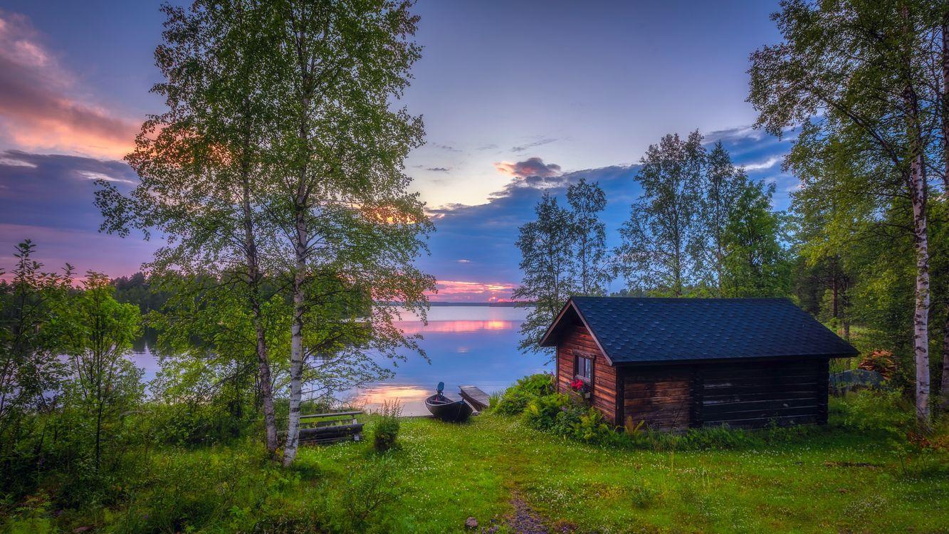 Фото бесплатно Финляндия, Куусамо, Kallunkij rvi sunset - на рабочий стол