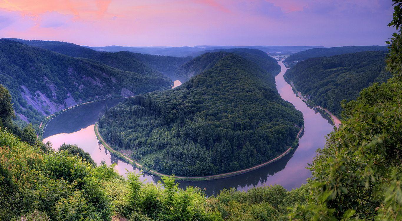 Изгиб реки Саар - пейзаж · бесплатное фото