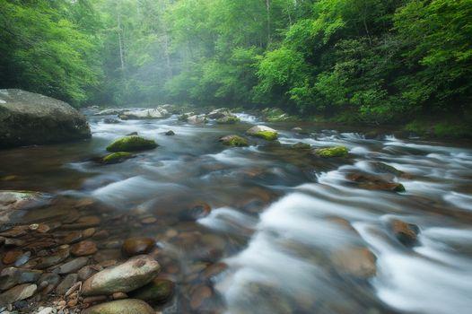 Заставки река, камни, течение