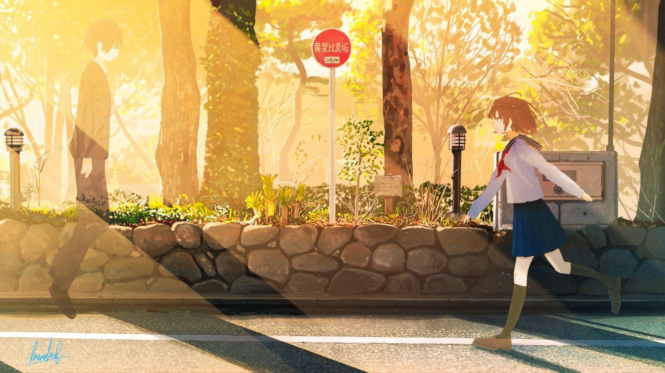 Фото бесплатно пару аниме, романтика, дух - на рабочий стол