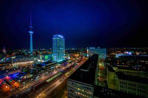 Заставки Berlin,Берлин,Германия,город,ночь,иллюминация,ночные города