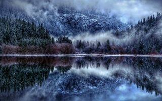 Photo free snow, clouds, reflection