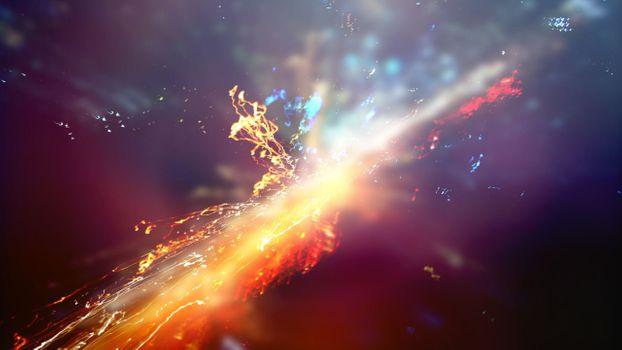 Photo free the explosion of colors, explosions, particles