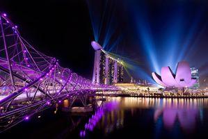 Фото бесплатно Сингапур, город, огни