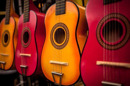 Фото бесплатно цвет, гитара, инструмент