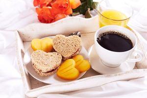 Заставки завтрак, кофе, тосты