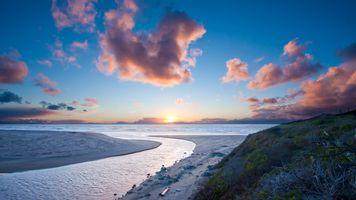 Фото бесплатно облака, океан, пляж