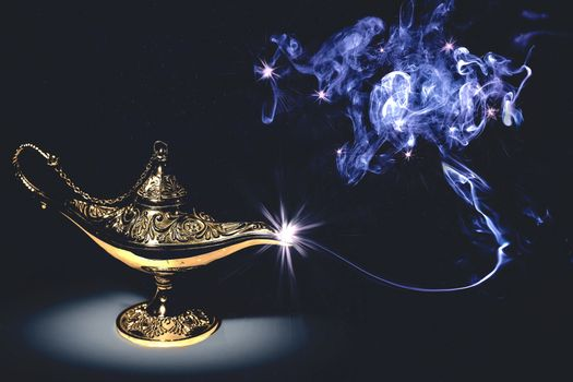 Photo free Magic Lamp, magic lamp, smoke