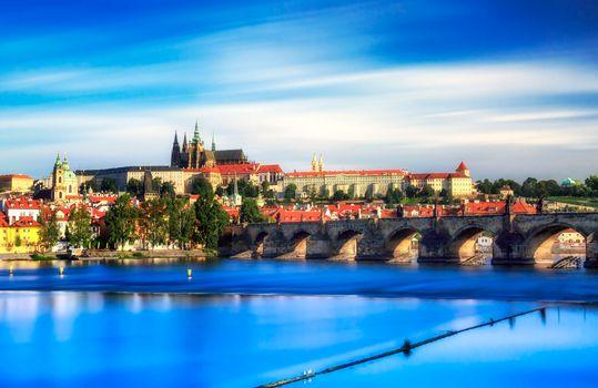 Бесплатные фото Прага,Чехия,Чешская Республика,Prague,Czech Republic,Пражский град,Карлов мост,Река Влтава,город,дома,мосты