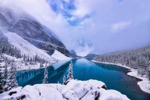 Фото бесплатно зима, Морейн, гора