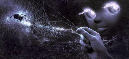 Бесплатные фото фэнтези,стороны,web,паук,лицо,глаза,кукла