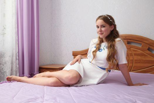 Фото бесплатно кровать, ножки, молодые