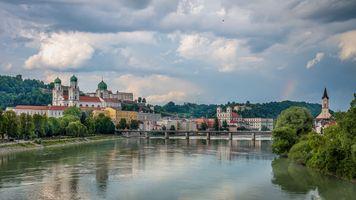 Бесплатные фото Пассау,город,река,гостиница,Bavaria,Германия,дома
