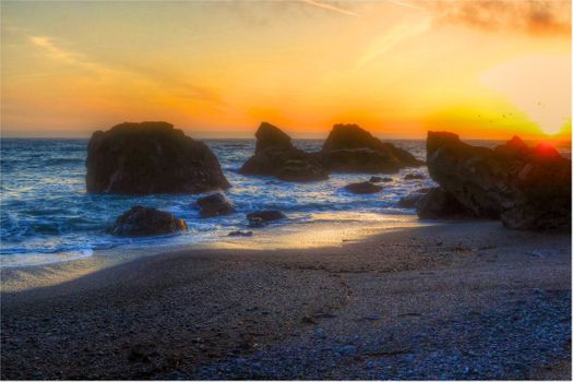 Фото бесплатно Sonoma Coast State Park, State of California, sea, summer, sunset, beach, seaside, landscape, shore, outdoor, ocean, water