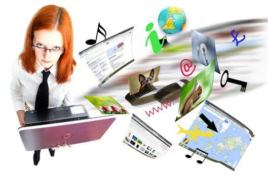 Заставки портативный компьютер, компьютер, музыка
