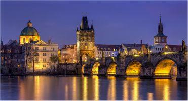 Заставки город, Prague, мосты