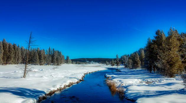 Бесплатные фото йеллоустоун,национальный парк,вайоминг,америка,туризм,пейзаж,живописный,леса,деревья,река,зима,снег