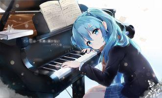 Фото бесплатно Хацунэ Мику, пианино, инструмент