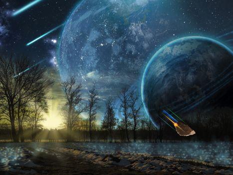 Бесплатные фото космос,вселенная,планеты,звёзды,созвездия,свечение,невесомость,вакуум,галактика,метеориты,астероиды,art