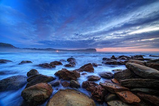 Photo free waves, Central coast, rocks