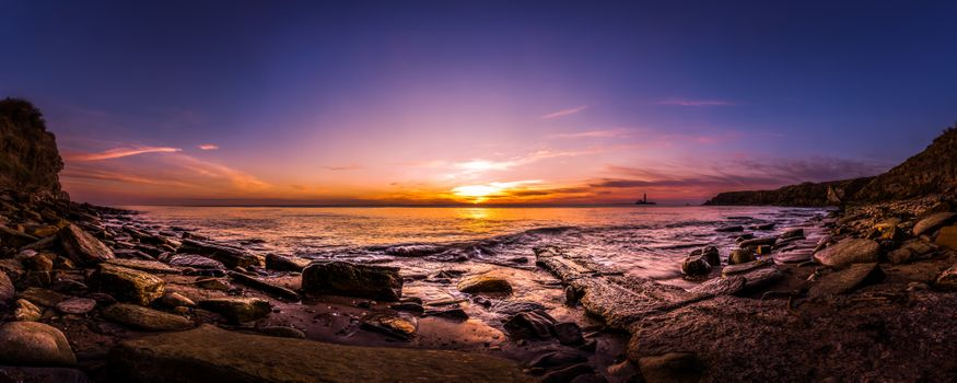 Фото бесплатно побережье Нортумберленда, маяк Уитли Бэй, Англия