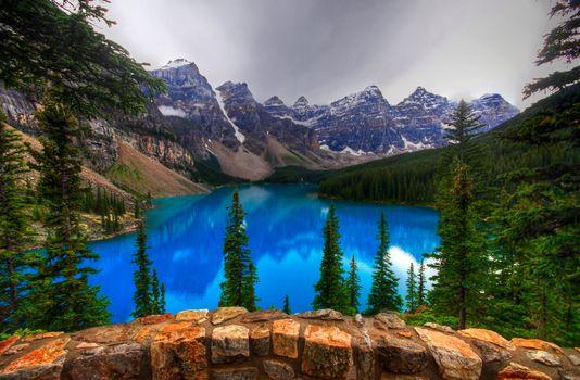 Фото бесплатно Альберта, скалы, озеро