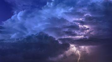 Бесплатные фото небо,облака,панорама,природа,тучи,шторм,молния