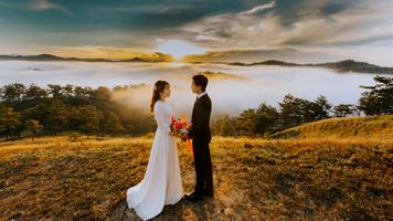 Бесплатные фото привязанность,невеста,жених и невеста,пара,платье,жених,люблю