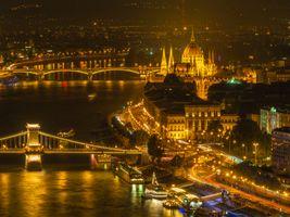 Фото бесплатно Дунай, огни, Будапешт